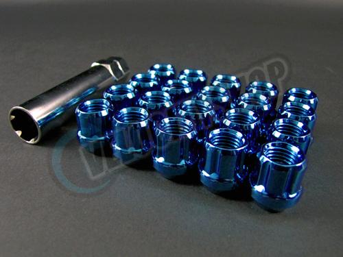 Muteki Lug Nuts Open End Blue on Arp Studs 12 X 20