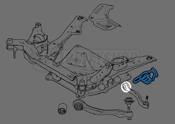 Hardrace Front Upper Arm Bushings Bmw E60 E63 E65